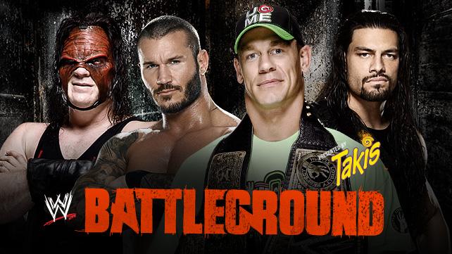 باتل جراوند 2014| الفائز في النزال الرباعي على لقب بطولة WWE للوزن الثقيل