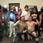شاهد احتفال جماهير المصارعة بعيد الهالوين (صور) !!