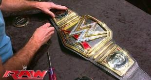 شاهد تركيب شعار دين أمبروز على حزام WWE (فيديو) كل الأخبار يوتيوب المصارعة الحرة  دين أمبروز 2016 دين أمبروز أخبار المصارعة 2016