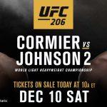 ضربة جديدة وموجعة جدا لعرض UFC 206 الكبير