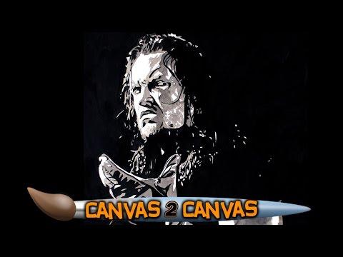 فنان WWE يختار الظاهرة في أحدث لوحاته (فيديو)