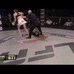 مقاتلة تُنهي منافستها بضربة قاضية مذهلة خلال عشر ثواني (فيديو)