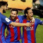 برشلونة يهزم آلافيس بثلاثية ويفوز بكأس إسبانيا