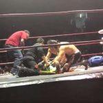 المصارع جاك ايفانز يتعرض لإغماء مفاجئ آثر ضربة قاضية (فيديو)