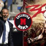 زيدان يستعين بفيلم 300 الشهير لتحفيز نجوم ريال مدريد لنهائي الابطال