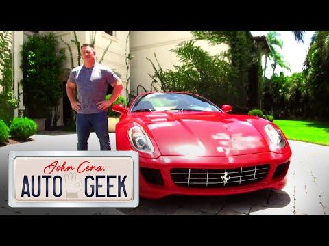 جون سينا يستعرض سيارة الفيراري من طراز GTB 599