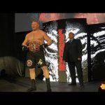 فيديو من WWE لهجوم بروك ليسنر على سيزارو وفوزه على شيمس